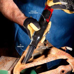 Needle Scaler Blast Off Rust